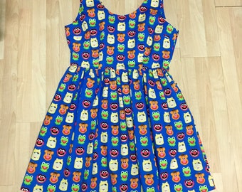Claudia Dress in Muppets Fabric