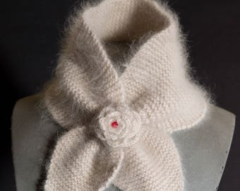 angora and lambswool scarf
