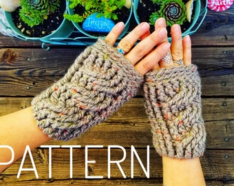 Fingerless gloves PATTERN, Crochet gloves pattern, texting gloves, wrist warmers, fall accessories, crochet