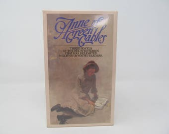 Anne Of Green Gables  - Box of 3 Books -Prince Edward Island, Anne Shirley, Lucy Maud Montgomery, vintage girls books, classics