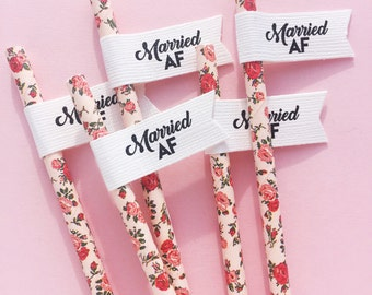 Wedding Straws/ Hen Party Straws/ Bachelorette Straws/ Bridal Shower Decor/ Hen Party/ Bride Tribe/ 30th Birthday/ 21st Birthday/ Straws