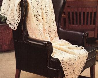 Wide Border Afghan Crochet Pattern Pinwheels Afghan Crochet Pattern PDF Instant Download