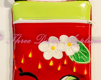 In the hoop zip bag- Shopkins Strawberry Kiss design