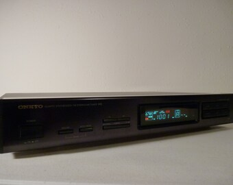 Onkyo T-401 - Vintage Digital AM FM Stereo Tuner - Serviced & Tested -  Stores Stations In Categories