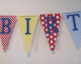 Happy Birthday Banner, Birthday Banner, Happy 1st Birthday Banner, Birthday decorations