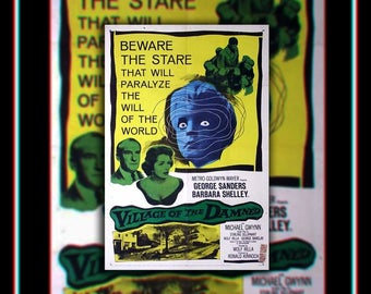 VILLAGE Of The DAMNED On Linen (1960) Very Rare 27x40 Rolled US One Sheet Movie Poster Original Vintage Collectible