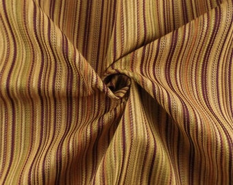 Butterscotch/Multi Twill Stripe Home Decorating Fabric, Fabric By The Yard