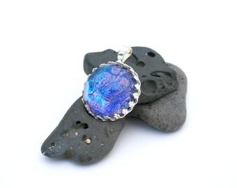 Cobalt Blue, Teal and Purple Color Shifting Pendant - Supernova Pendant - Nail Polish Jewelry Style