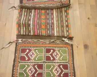 Etsy's 13th Birthday Sales Anatolian kilim saddlebag 151x55 cm