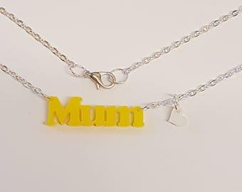 Mum Necklace - Acrylic