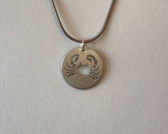 Crab Pendant-Crab Jewelry-Crab Necklace-Ocean Jewelry
