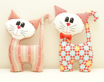 Cat Sewing Pattern PDF Instant Download Plush Stuffed Toy Tutorial. Fabric cat pattern. Cat PDF