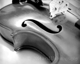 Black and White Photograph, Violin Photo, Music Art, Musical Instrument, Grey, Black, White, 5x5 inch Fine Art Photograph - In a Dream