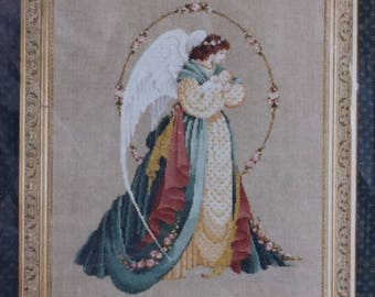 Counted Cross Stitch Pattern | Lavender & Lace | Guardian Angel