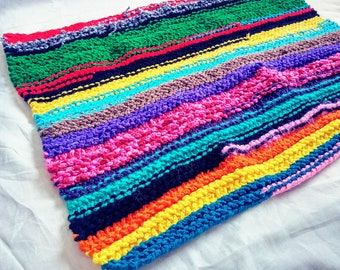Accent Rainbow Crocheted Rug