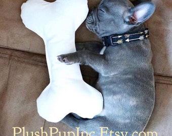 Dog Bone pillows, Large White dog bones, plush dog bone pillow