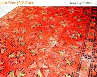 DOUBLE OFFER FREESHIP 20% Antique Moroccan Tribal Rug