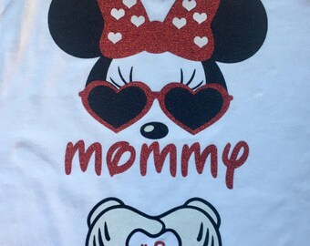 Minnie Mouse Maternity Pregnancy Announcement