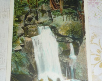 Paradise Falls, Lost River, White Mountains, New Hampshire Vintage View Postcard