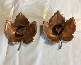 A pair of hand made candle holders by Alfredo Sciarrotta - Newport Rhode Island 1940s