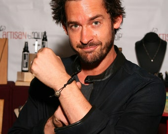 Black Lava Rock Stone Bracelet, Actor Will Kemp from GG2D, Reign, Code Black and Step Up 2, Charity Unisex Diffuser Aromatherapy, Dark Beads