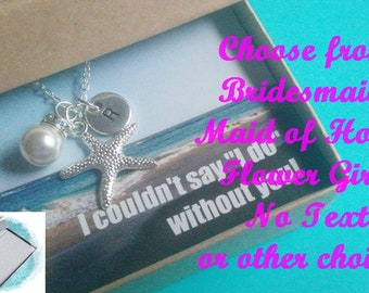 SALE - STARFISH NECKLACE, Silver Starfish Necklace, Personalized  Starfish Jewelry, Beach Bridesmaid Necklace, Bridesmaid Gift, Starfish