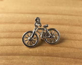 Vintage Silver Plated Mechanical Bike Bracelet Charm