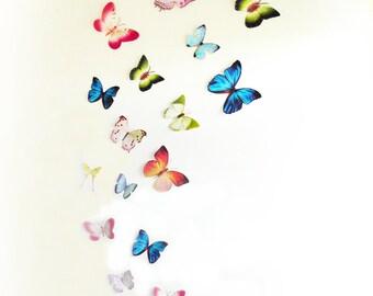 3D Wall Butterflies,3D Butterfly Wall Art, Decoration, Pink, Green, 3D Wall Decor,Nursery, Baby, Wedding Decor, Baby Shower, Girls Room