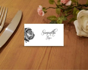 Rose Printable Place Cards