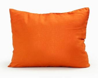 "Free Shipping! 12x18"" / 12x20"" / 14x20"" Orange Home Decorative Throw Pillow Cover Cotton Fabric Lumbar Pillow Cushion Case 1505"