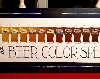 Samuel Adams Beer Color Spectrum Painting