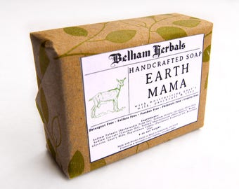 EARTH MAMA | Patchouli Goat's Milk Soap, homemade soap, soaps, artisan soap, bridesmaids gift, guest soap, gifts for her, gift for women