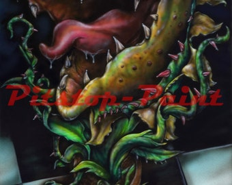 Little shop of horrors, Audrey 2 - A1 canvas print from airbrushed artwork