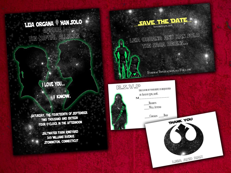 Star Wars birthday party invitation star wars theme 1500 via Etsy