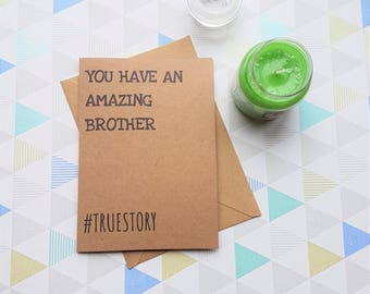 Brother birthday, Gift for brother, Card for brother, Birthday card, Brother gift, Brother card, Brother, Brothers birthday, Big brother