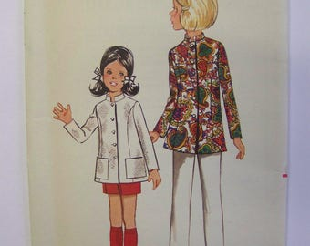 FAB Vintage 1960s Butterick 5082 Girl's NEHRU JACKET pattern size 10 Complete