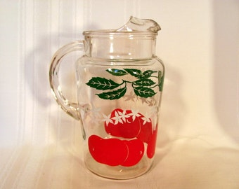 Juice Pitcher in the Tomato Pattern from the 1950's