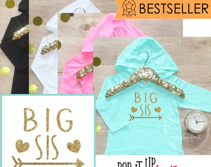 Big Sister Shirt / Baby Clothes Shirt Sibling Shirt Tribal Big Sis New Baby Announcement Shirt Big Sister Announcement Big Sister 005