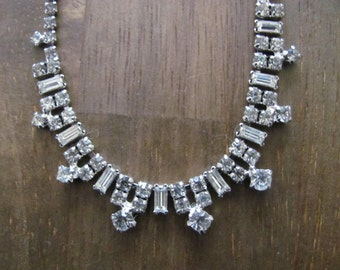 Vintage KRAMER NY Rhinestone Necklace