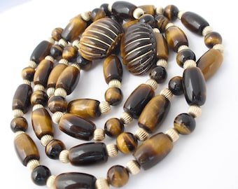Tiger Eye Matching Necklace and Post Earrings Jewelry Gifts for Her