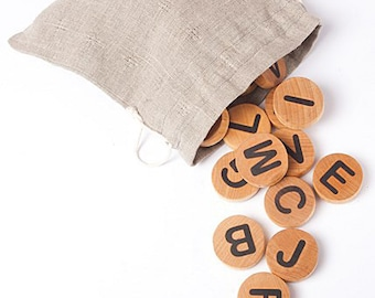 Swedish Letter Magnets, montessori alphabet magnets, children wooden toys, waldorf , educational game, kids christmas gift.