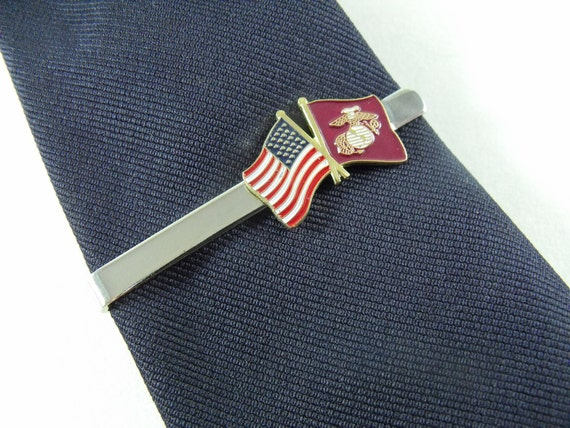 Tie bar tie clip united states marine corps crossed flags ccuart Images
