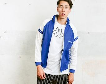 Vintage Wool Track Jacket . Men's Retro 80s Jacket Zip Up Sports Jacket Vintage Rave Jacket Oldschool Boyfriend Gift . size Medium M