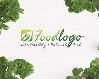 Organic Food Logo, Food Logo, Restaurant Logo, Eco Logo, Green Logo, Health Food Store, Health Food Restaurant, Natural Logo, Vegan Logo