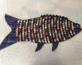 """Decorative Fish Tabletop/Placemat with Multi Pattern """"Scales"""""""