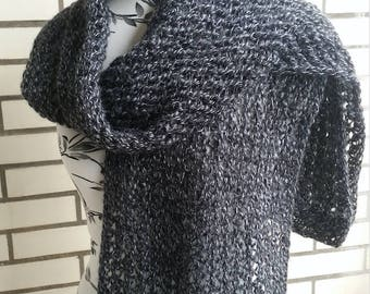 Knitted winter scarf for women