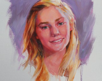 Custom Oil Painting Portrait From Your Photo Modern Painterly Style