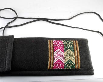 Manta Eye Glass Case Bag From Peru Free Trade OOAK Handmade New #4