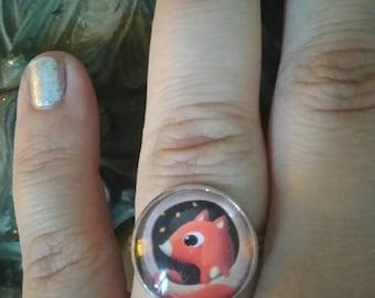 """Ring silver vintage """"squirrel"""""""