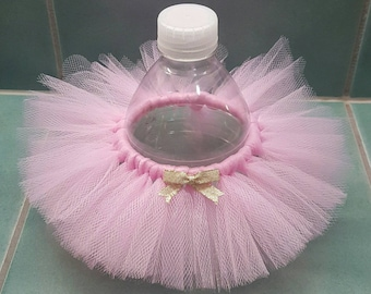 BOTTLE TUTU Princess Party Favor* Birthday ballerina decoration Pink and Gold Baby Shower Wedding bridal girl Sweet 16 quinceanera  tulle